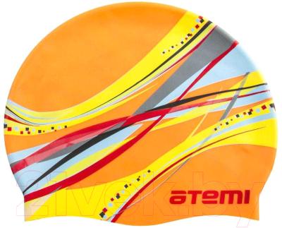 Шапочка для плавания Atemi PSC419 (оранжевый/графика)