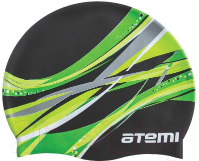Шапочка для плавания Atemi PSC419 (черный/графика)