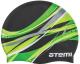 Шапочка для плавания Atemi PSC419 (черный/графика) -