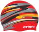 Шапочка для плавания Atemi PSC420 (красный/графика) -