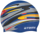 Шапочка для плавания Atemi PSC420 (синий/графика) -