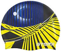 Шапочка для плавания Atemi PSC422 (черный/графика) -