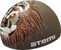Шапочка для плавания Atemi PSC425 (серый/лев) -