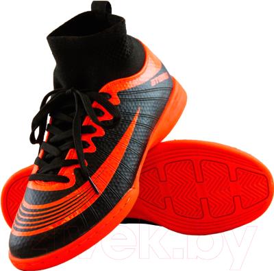 Бутсы футбольные Atemi SD100 Indoor (черный/оранжевый, р-р 32)
