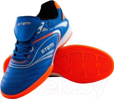 Бутсы футбольные Atemi SD300 Indoor (голубой/оранжевый, р-р 39)