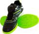 Бутсы футбольные Atemi SD300 Indoor (черный/салатовый, р-р 34) -