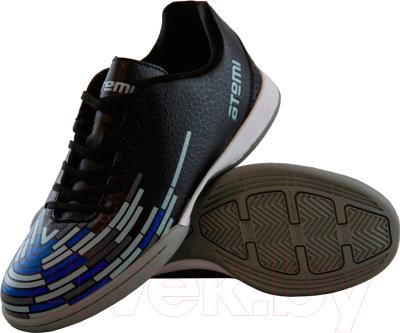 Бутсы футбольные Atemi SD400 Indoor (черный/синий/серый, р-р 32)