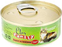 Корм для кошек Clan Family паштет из телятины №24 (100г) -