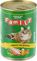 Корм для кошек Clan Family паштет из курицы №27 (415г) -