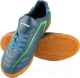 Бутсы футбольные Atemi SD500 Indoor (серый/зеленый, р-р 45) -