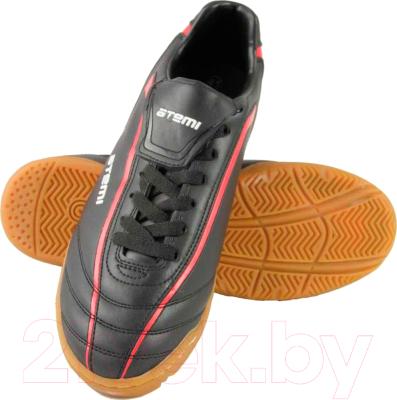 Бутсы футбольные Atemi SD500 Indoor (черный/красный, р-р 44)