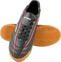 Бутсы футбольные Atemi SD500 Indoor (черный/красный, р-р 45) -