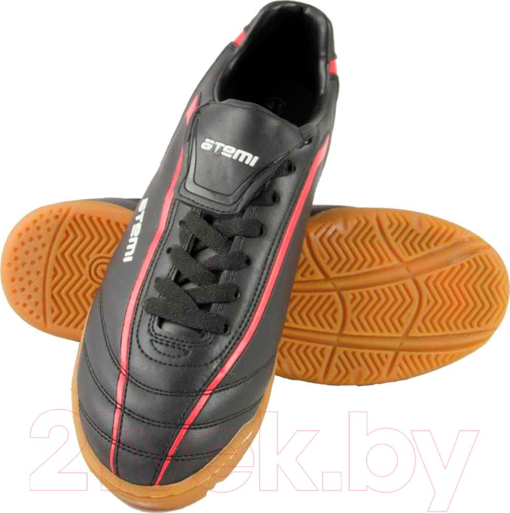 Купить Бутсы футбольные Atemi, SD500 Indoor (черный/красный, р-р 45), Китай, синтетическая кожа