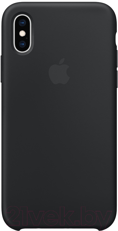 Купить Чехол-накладка Apple, Silicone Case for iPhone XS Black / MRW72, Китай, силикон