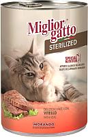Корм для кошек Miglior Gatto Sterilized Veal (400г) -