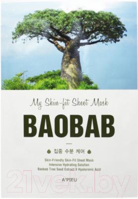 Маска для лица тканевая A'Pieu My Skin-Fit Sheet Mask Baobab (25г)