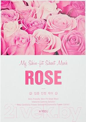 Купить Маска для лица тканевая A'Pieu, My Skin-Fit Sheet Mask Sea Rose (25г), Южная корея, My Skin-Fit Sheet Mask (A'Pieu)