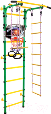 Детский спортивный комплекс Midzumi Banji Kabe Basketball Shield (зеленый/желтый)
