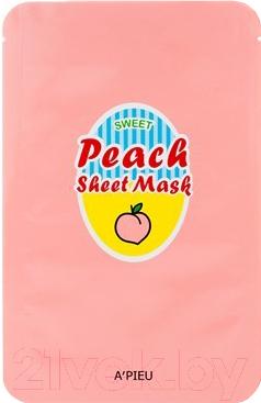 Маска для лица тканевая A'Pieu Sweet Peach Sheet Mask (23г)