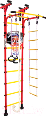 Детский спортивный комплекс Midzumi Niji Basketball Shield (красный/желтый)