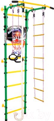 Детский спортивный комплекс Midzumi Niji Kabe Basketball Shield (зеленый/желтый)
