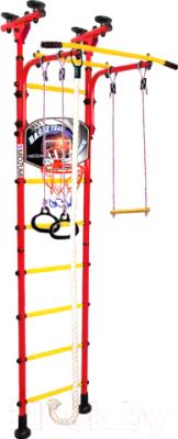 Детский спортивный комплекс Midzumi Hoshi Basketball Shield (красный/желтый)
