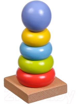 Развивающая игрушка МДИ Цветная пирамидка / LL152