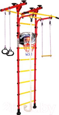 Детский спортивный комплекс Midzumi Hoshi Ton Basketball Shield (красный/желтый)