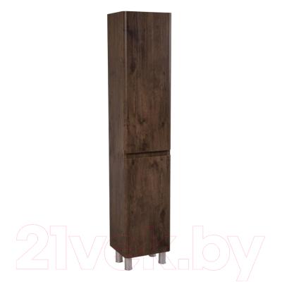 Шкаф-пенал для ванной Аква Родос Акцент R / AP0002409 (каштан, напольный)