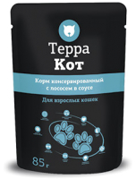 Корм для кошек ТерраКот С лососем в соусе TRK026 (85г) -