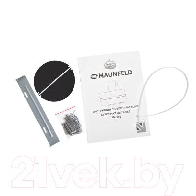 Вытяжка декоративная Maunfeld Mersey 60 (нержавеющая сталь/белое стекло)