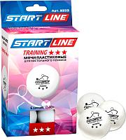 Мячи для настольного тенниса Start Line Training 3 (6шт, белый) -