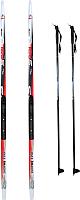 Комплект беговых лыж STC Step NNN WD (RE) автомат 185/145 (красный) -