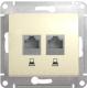 Розетка Schneider Electric Glossa GSL000285KK -