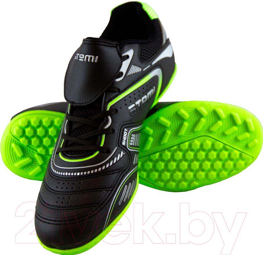 Купить Бутсы футбольные Atemi, SD300 TURF (черный/салатовый, р-р 31), Китай, синтетическая кожа