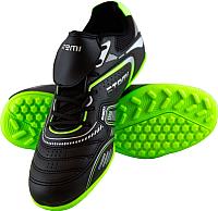 Бутсы футбольные Atemi SD300 TURF (черный/салатовый, р-р 44) -