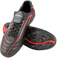 Бутсы футбольные Atemi SD500 MSR (черный/красный, р-р 37) -