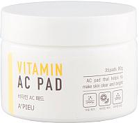 Маска для лица тканевая A'Pieu Vitamin AC Pad витаминная на ватном диске (80г) -
