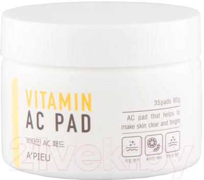 Маска для лица тканевая A'Pieu Vitamin AC Pad витаминная на ватном диске (80г)