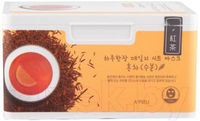 Маска для лица тканевая A'Pieu Daily Sheet Mask Black Tea/Hydrating (350г)