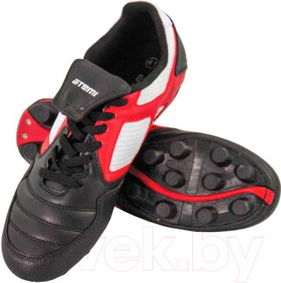 Бутсы футбольные Atemi SD730A MSR (черный/белый/красный, р-р 34)