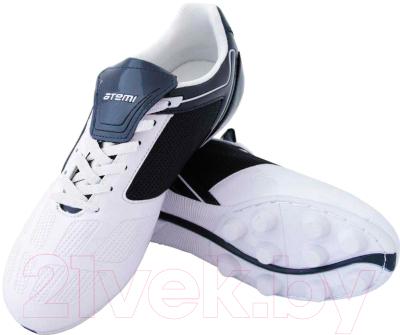 Бутсы футбольные Atemi SD803 MSR (белый/синий, р-р 40)