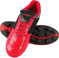 Бутсы футбольные Atemi SD803 MSR (красный/черный, р-р 31) -