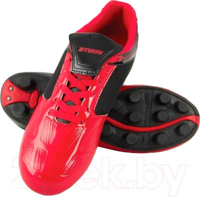Бутсы футбольные Atemi SD803 MSR (красный/черный, р-р 34)
