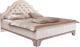Двуспальная кровать Рэйгрупп Jakarta РГ-01 М (ясень снежный/сосна натуральная) -