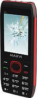 Мобильный телефон Maxvi C17 (черный/красный) -