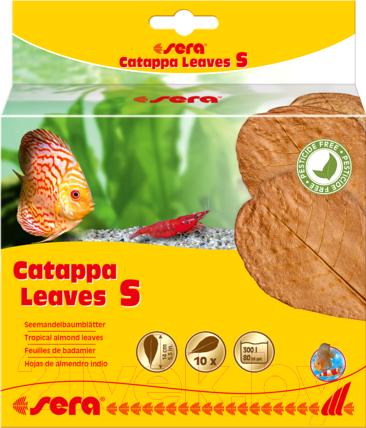 Купить Корм для рыб Sera, Catappa Leaves Листья индийского миндаля S / 32273 (10шт), Германия