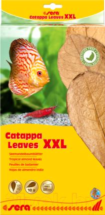 Купить Корм для рыб Sera, Catappa Leaves Листья индийского миндаля XXL / 32275 (10шт), Германия