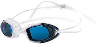 Очки для плавания Atemi N9102M (белый/синий) -