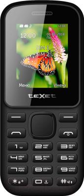 Мобильный телефон Texet TM-130 (черный/красный)